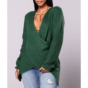 Fashion Nova Surplice Sweater